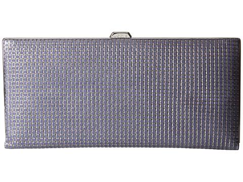 Lodis Accessories - Sophia Woven Andra Clutch Wallet (Navy/Silver) Wallet Handbags