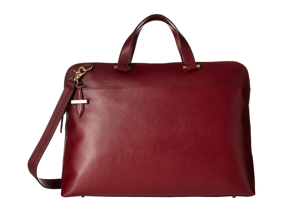 Lodis Accessories - Stephanie RFID Under Lock Key Jamie Medium Brief (Burgundy) Briefcase Bags