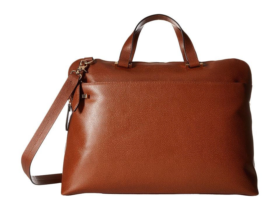 Lodis Accessories - Stephanie RFID Under Lock Key Jamie Medium Brief (Chestnut) Briefcase Bags