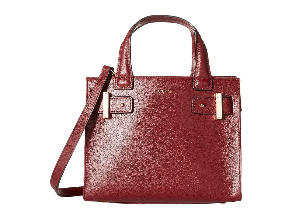 Lodis Accessories - Stephanie Under Lock Key Uma Mini Tote (Burgundy) Tote Handbags