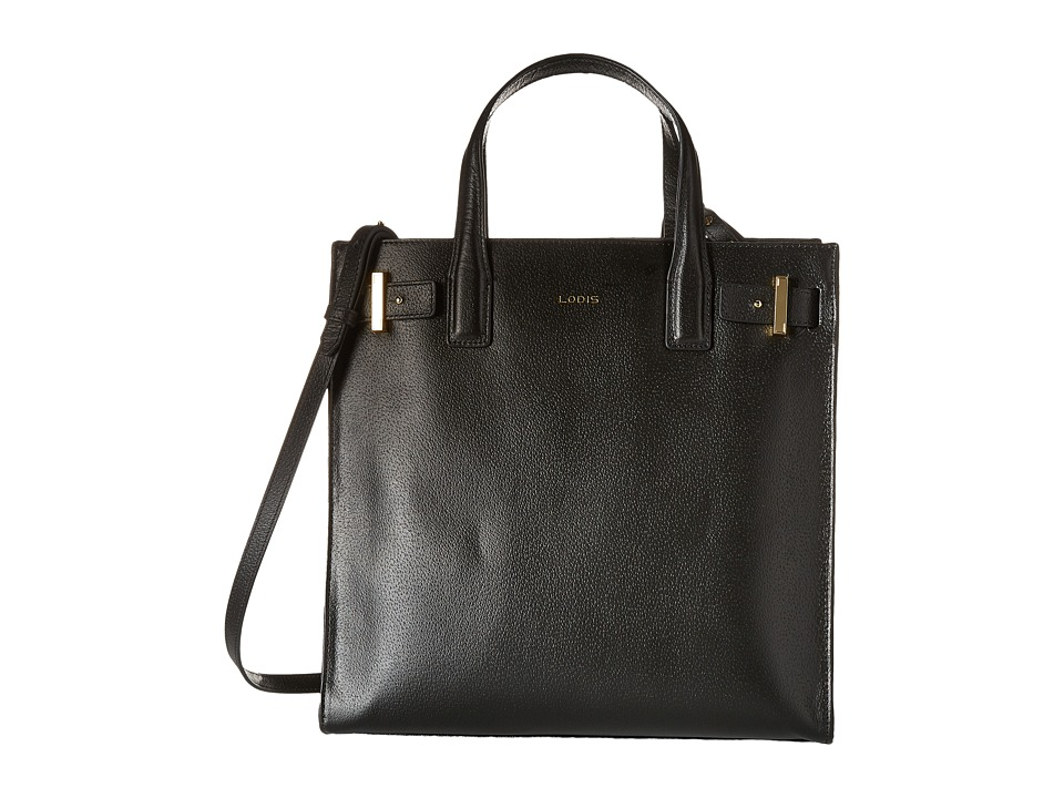 Lodis Accessories - Stephanie RFID Under Lock Key Scarlet Tote (Black) Tote Handbags