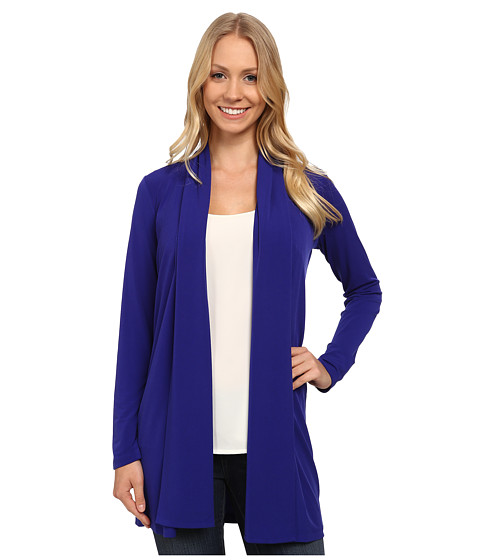 Calvin Klein - Long Matte Jersey Duster Cardigan (Byzantine) Women's Sweater