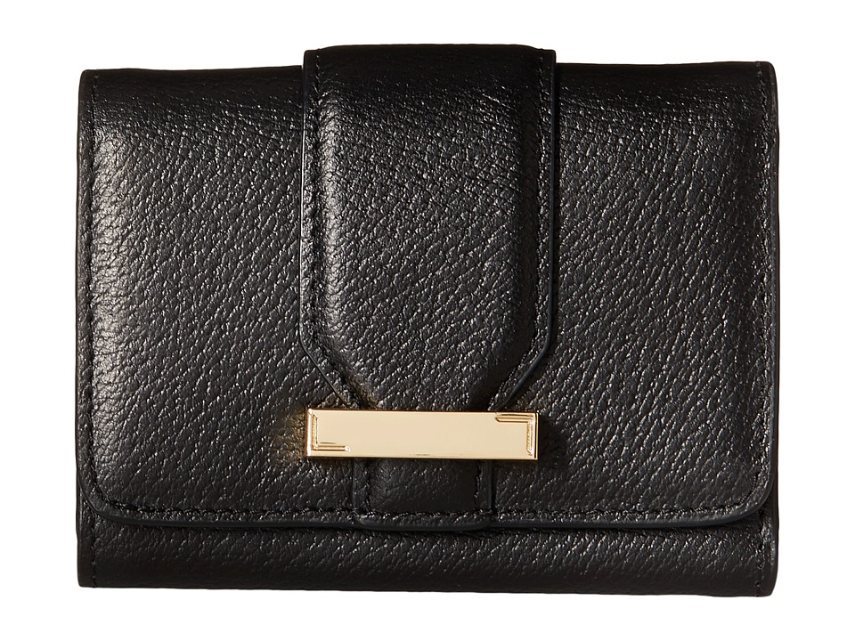 Lodis Accessories - Stephanie RFID Under Lock Key Mallory French Purse (Black) Wallet Handbags