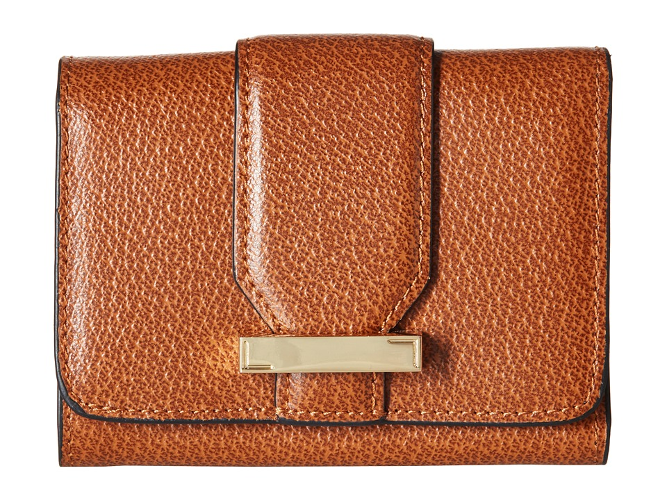 Lodis Accessories - Stephanie RFID Under Lock Key Mallory French Purse (Chestnut) Wallet Handbags