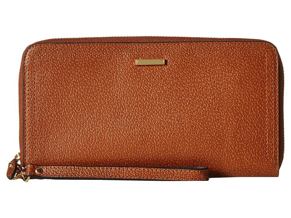 Lodis Accessories - Stephanie RFID Under Lock Key Vera Wristlet Wallet (Chestnut) Wallet Handbags