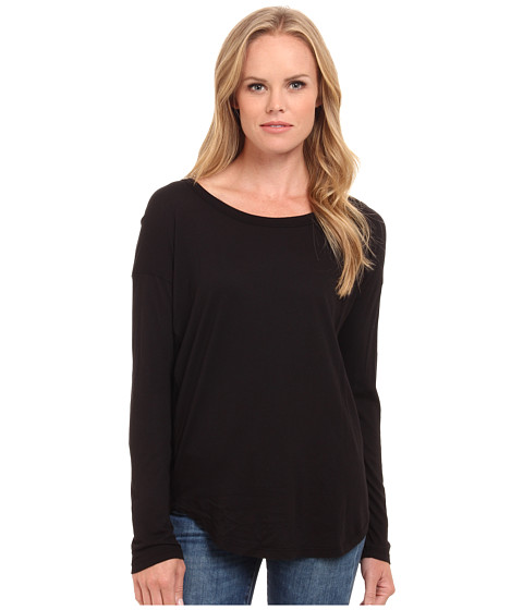 Splendid - Drop Sleeve Jersey Top (Black) Women's Sleeveless