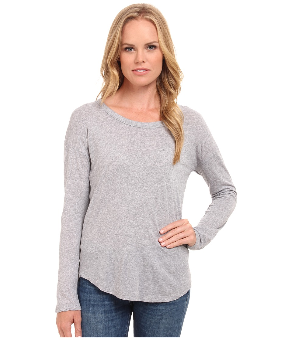 Splendid - Drop Sleeve Jersey Top (Grey) Women's Sleeveless