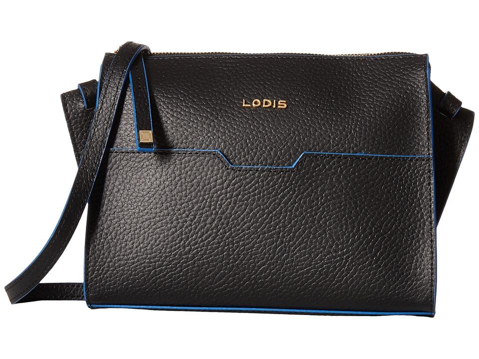 Lodis Accessories - Zoey May Crossbody (Black/Cobalt) Cross Body Handbags