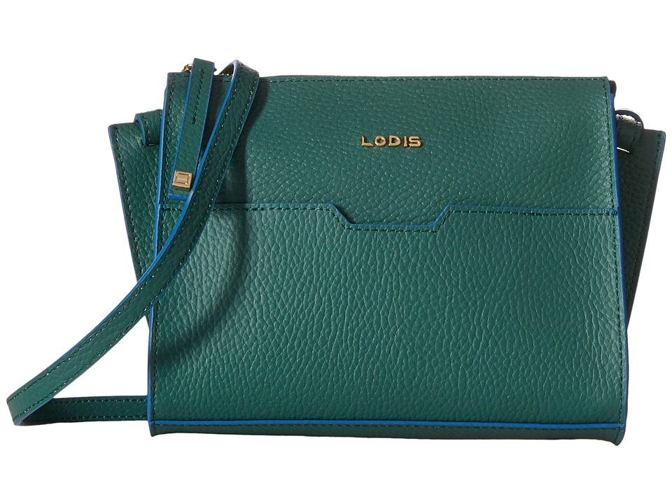 Lodis Accessories - Zoey May Crossbody (Green/Cobalt) Cross Body Handbags