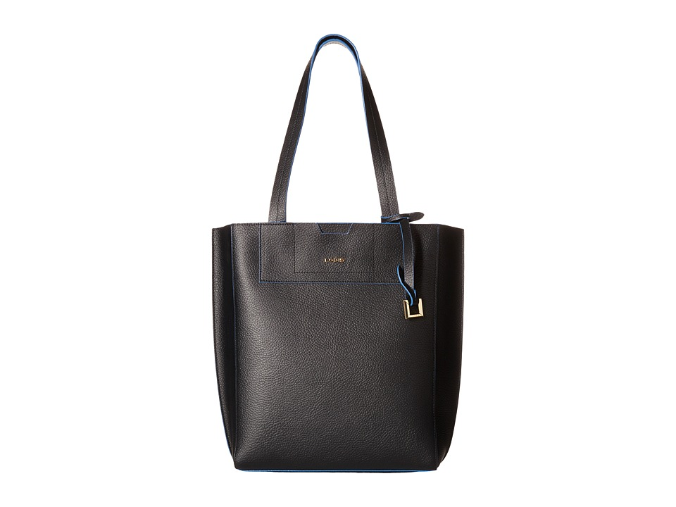 Lodis Accessories - Zoey Jane Tote (Black/Cobalt) Tote Handbags