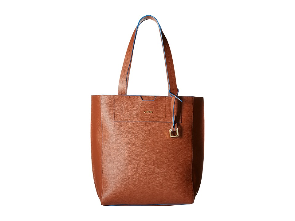 Lodis Accessories - Zoey Jane Tote (British Tan/Cobalt) Tote Handbags