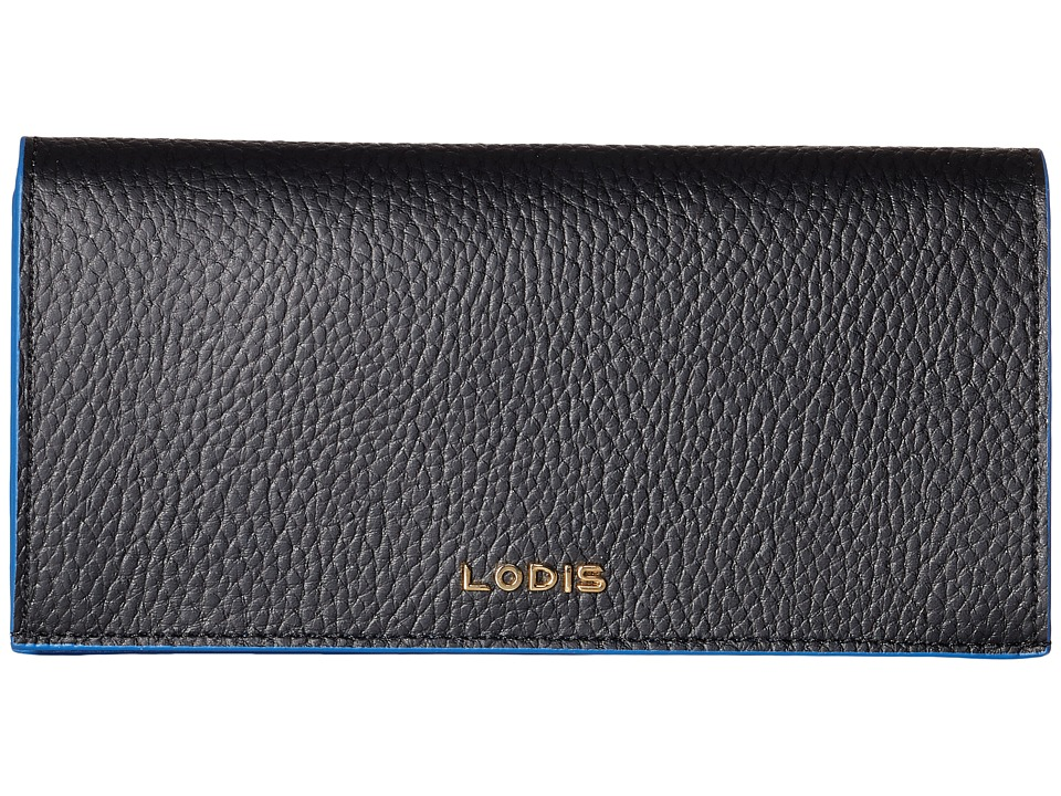 Lodis Accessories - Zoey Kia Wallet (Black/Cobalt) Wallet Handbags