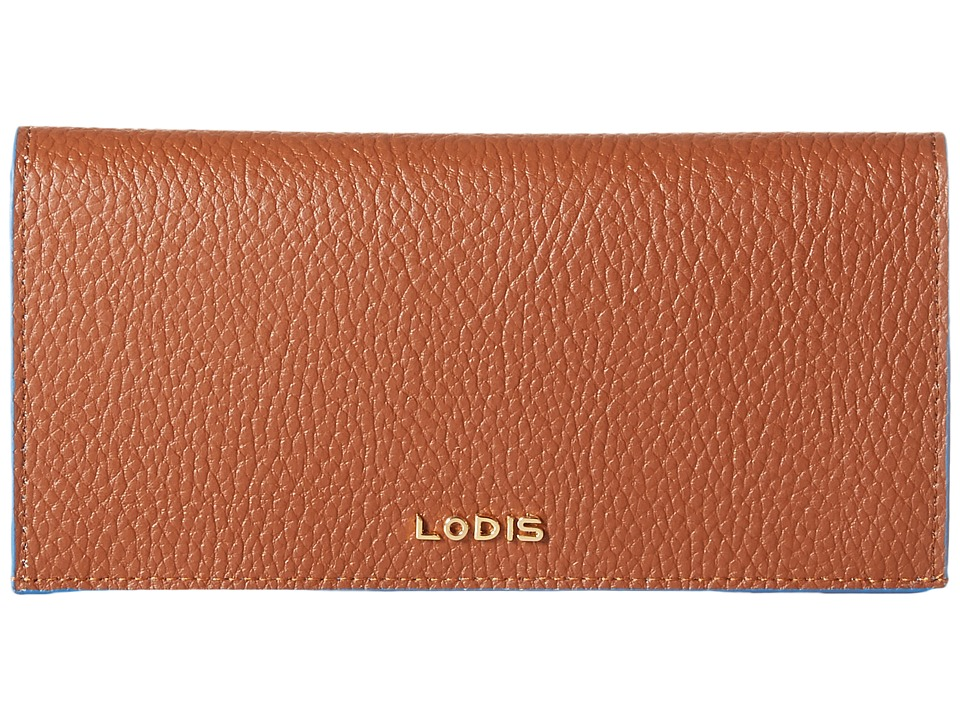 Lodis Accessories - Zoey Kia Wallet (British Tan/Cobalt) Wallet Handbags
