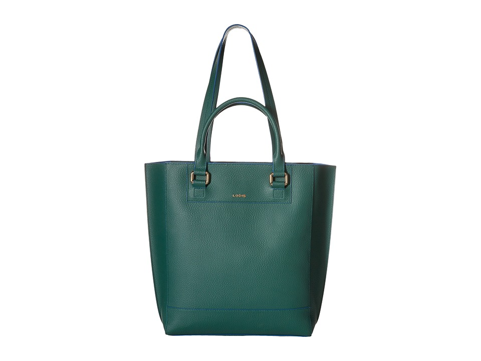 Lodis Accessories - Zoey Abby Double Handle Tote (Green/Cobalt) Tote Handbags