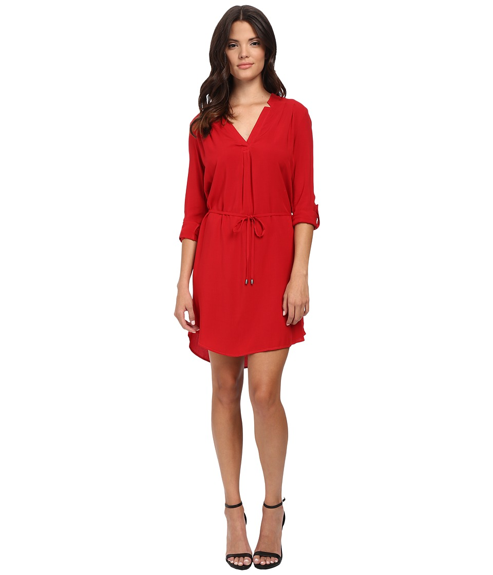Splendid - Convertible Sleeve Shirt Dress (Currant) Women's Dress