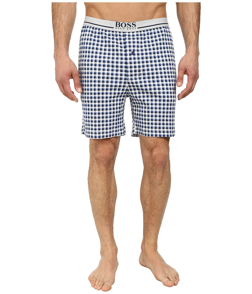 BOSS Hugo Boss - Relax Plaid Shorts (Dark Blue) Men's Pajama