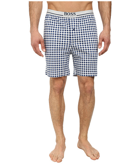 BOSS Hugo Boss - Relax Plaid Shorts (Dark Blue) Men
