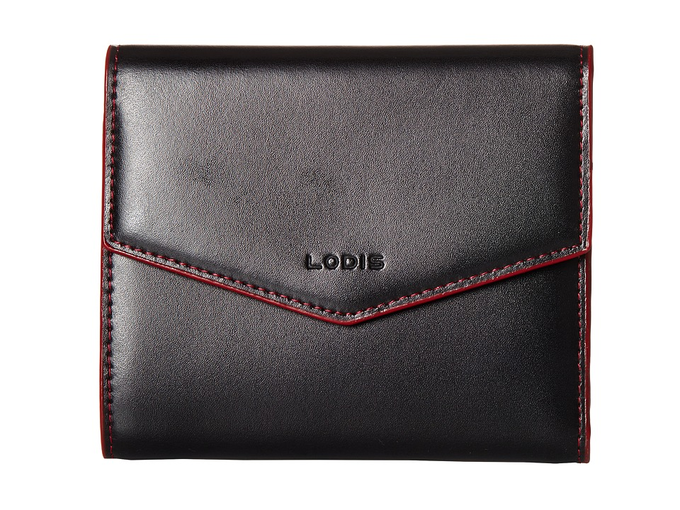 Lodis Accessories - Audrey Lana French Purse (Black/Red) Wallet Handbags