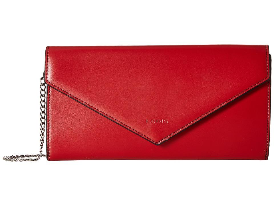 Lodis Accessories - Audrey Nina Crossbody (Red/Black) Cross Body Handbags