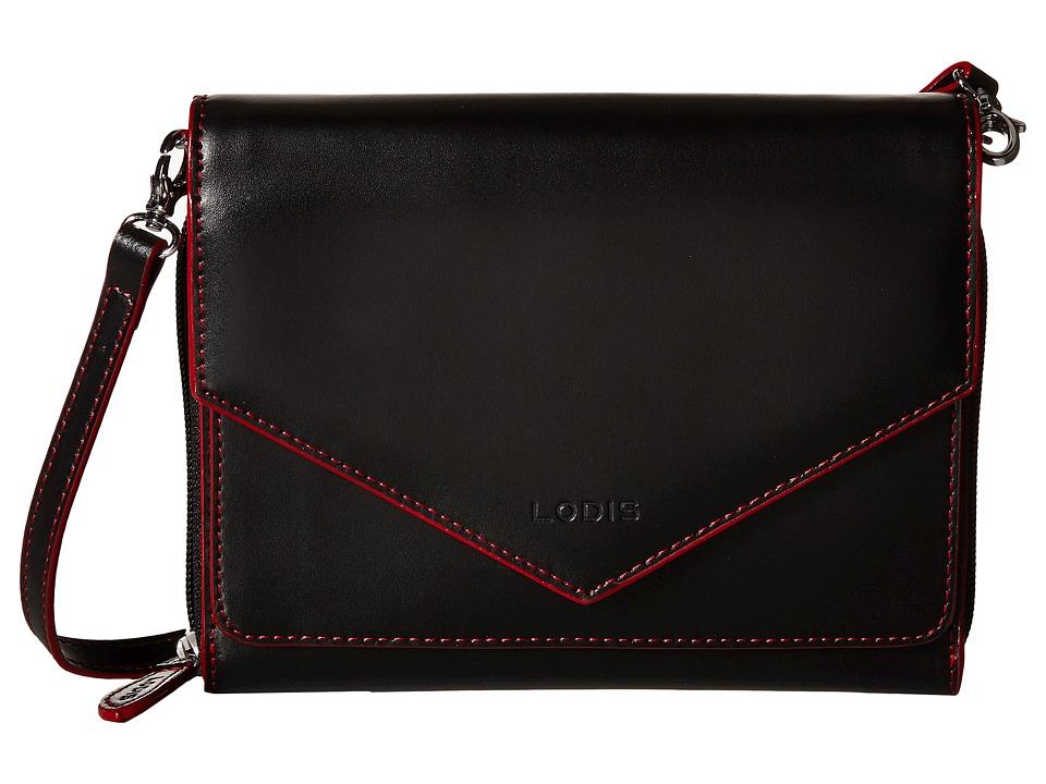 Lodis Accessories - Audrey Daria Small Crossbody (Black/Red) Cross Body Handbags