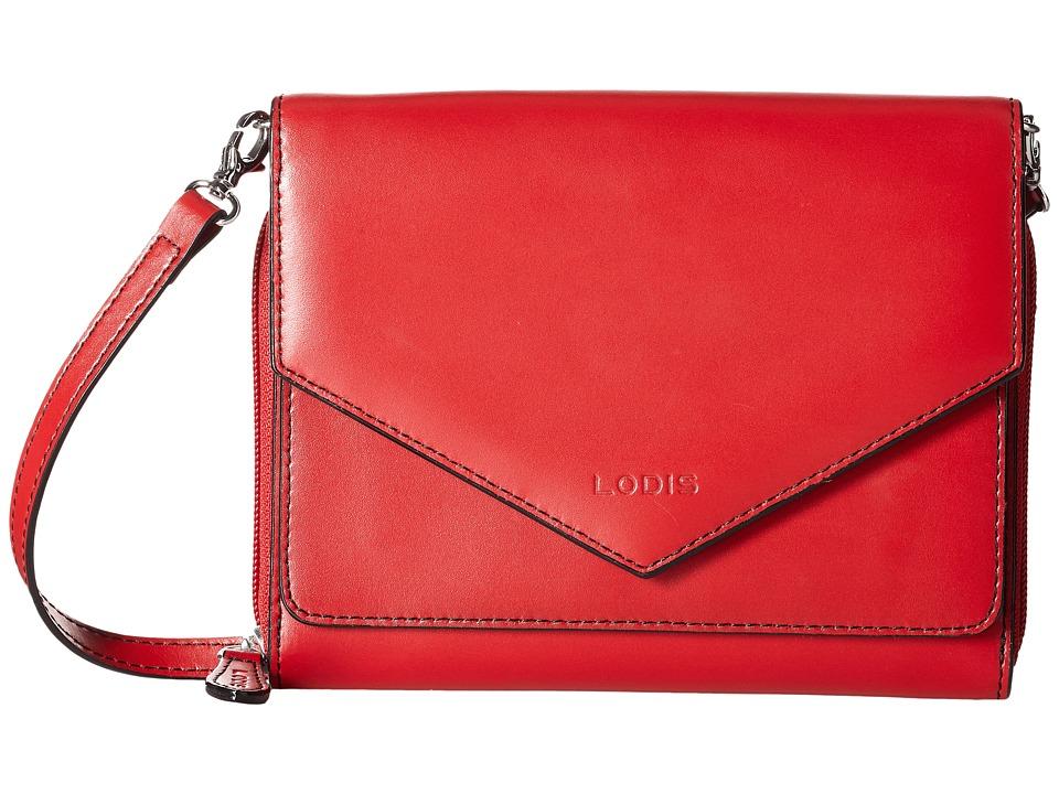 Lodis Accessories - Audrey Daria Small Crossbody (Red/Black) Cross Body Handbags