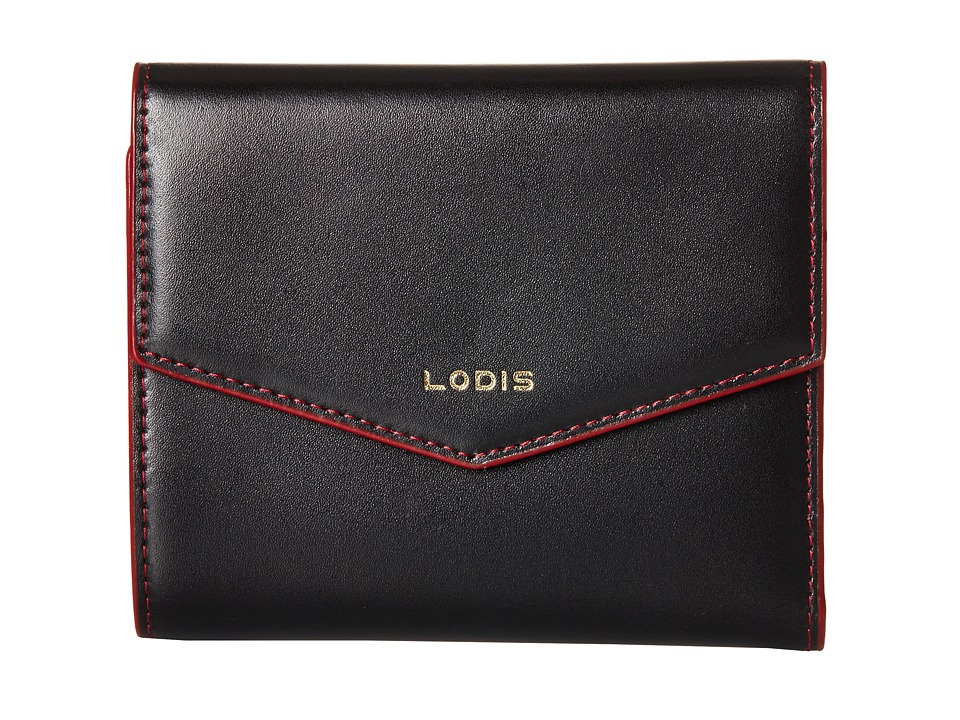 Lodis Accessories - Audrey Premier Lana French Purse (Black/Gold) Wallet Handbags