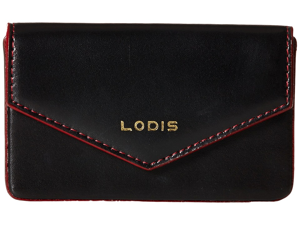 Lodis Accessories - Audrey Premier Maya Card Case (Black/Gold) Credit card Wallet