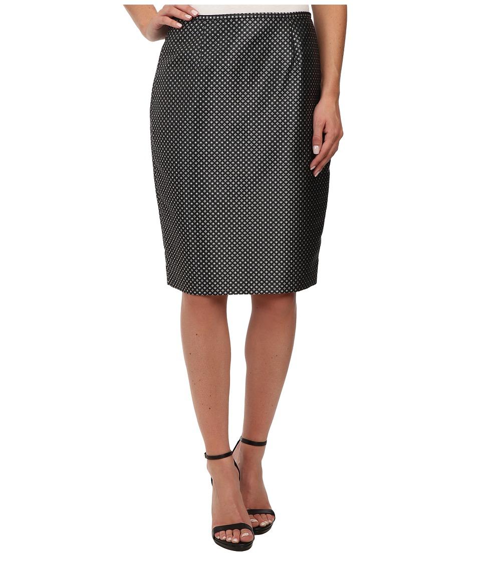 Calvin Klein - Circle Printed Straight Skirt (Chartouse Multi) Women