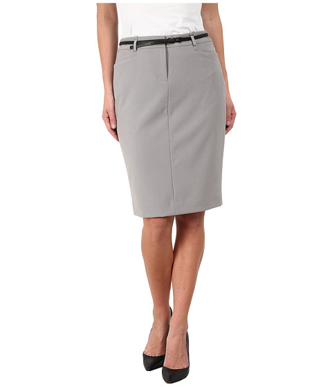 Calvin Klein - Solid Belted Skirt (Moonlight) Women
