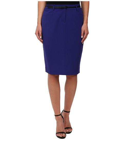 Calvin Klein - Solid Belted Skirt (Byzantine) Women
