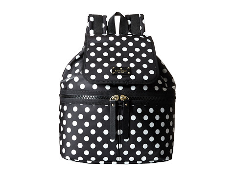 Kate Spade New York - Clark Court Nylon Marin (Black Dot) Backpack Bags