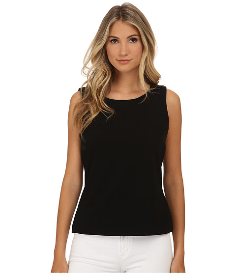 Calvin Klein - Sleeveless Mock Neck Top (Black) Women's Sleeveless