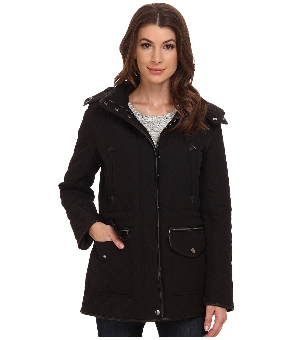Cole Haan - Signature Quilt Parka (Black) Women's Coat