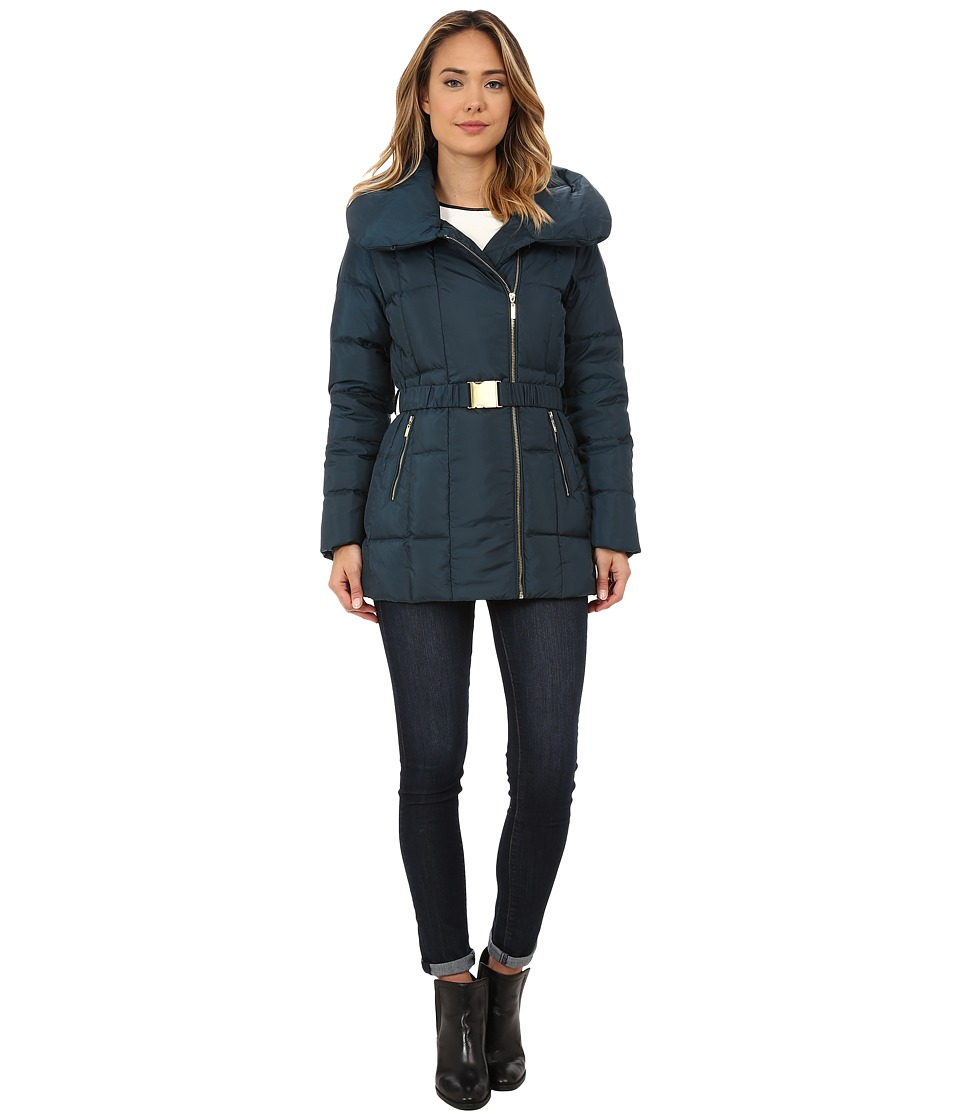 Cole Haan - Double Breast Down Coat (Cypress) Women's Coat