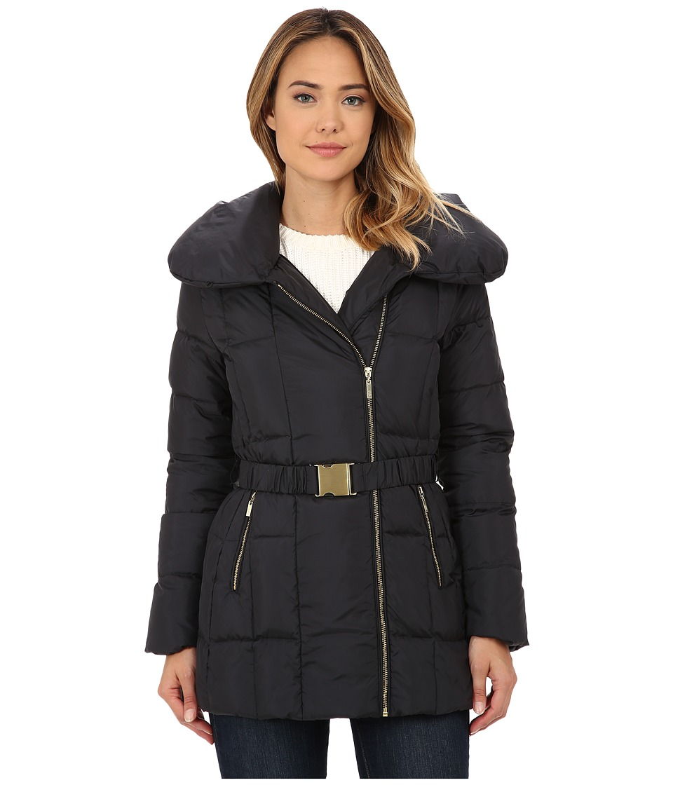 Cole Haan - Double Breast Down Coat (Black) Women's Coat
