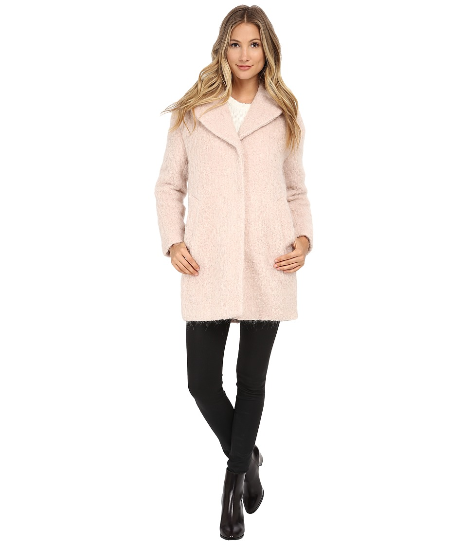 Cole Haan - Cocoon Coat with Knotch Collar (Canyon Rose) Women's Coat