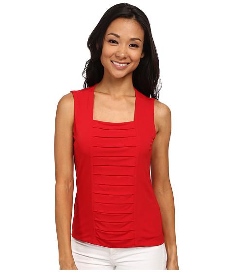 Calvin Klein - Rouged Sleeveless Cami (Red) Women's Sleeveless