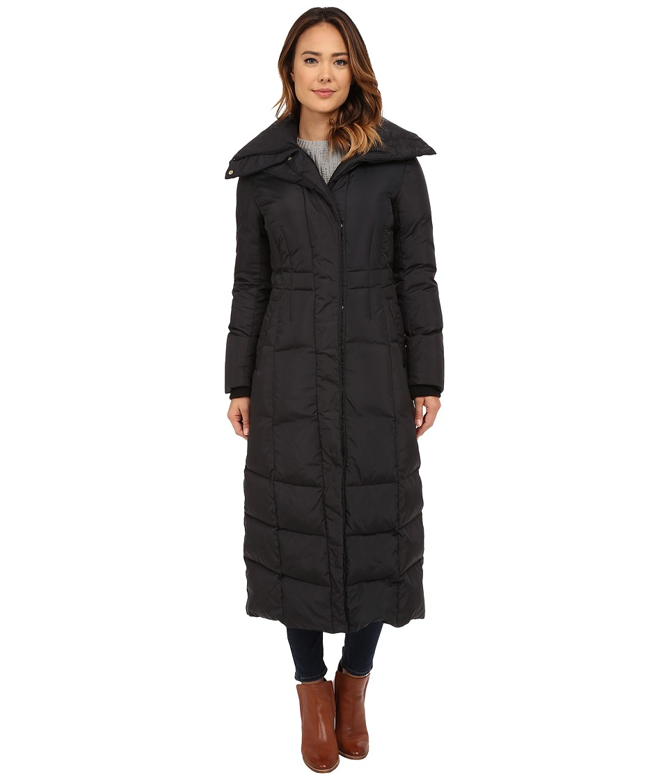 Cole Haan - Down Coat with Oversized Collar (Black) Women's Coat