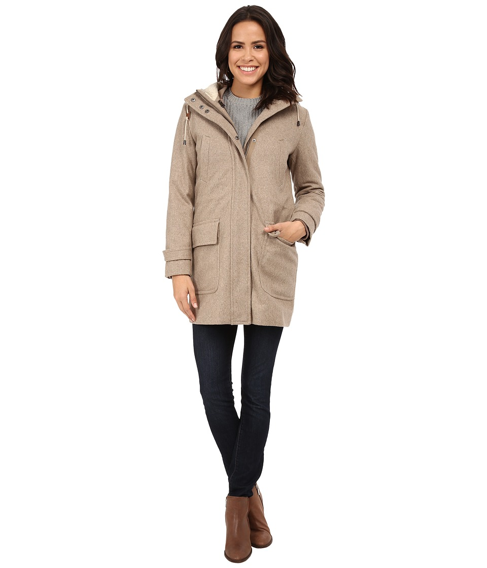 Cole Haan - 4-in-1 Hooded Parka with Removable and Reversible Liner Bomber Jacket (Maple Sugar) Women