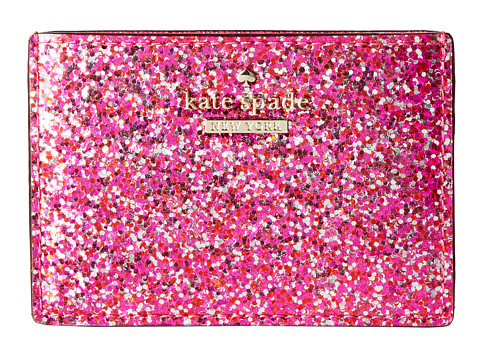 Kate Spade New York - Glitter Bug Card Holder (Red Multi) Wallet
