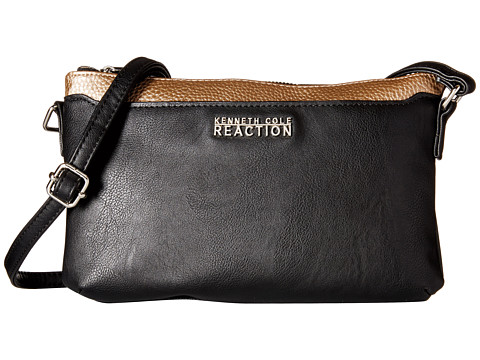 Kenneth Cole Reaction - Right Angles Mini Crossbody (Black/Putty) Cross Body Handbags