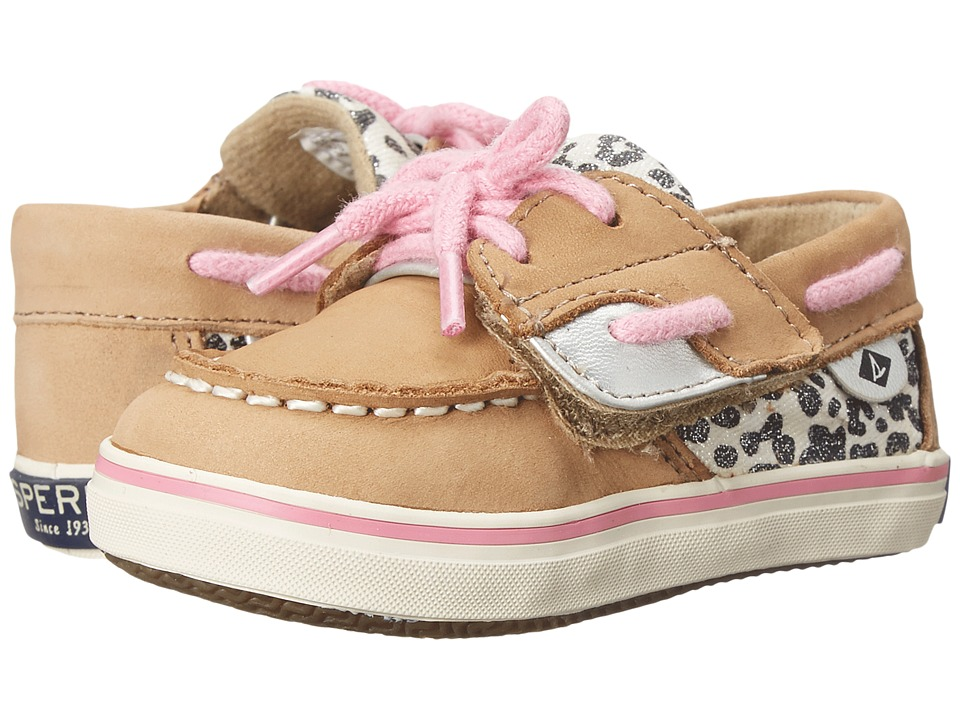 Sperry Top-Sider Kids - Bluefish Crib Jr (Infant/Toddler) (Linen/Snow Leopard) Girl