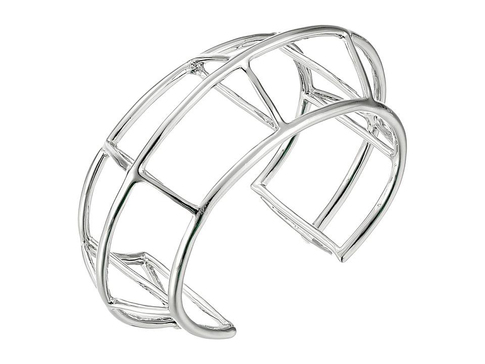 Vince Camuto - Graphic Cage Cuff Bracelet (Light Rhodium) Bracelet