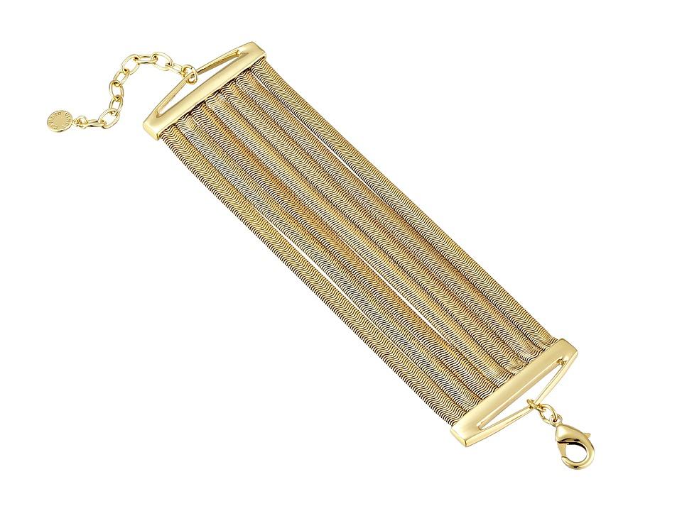 Vince Camuto - Flat Snake Chain Multi Row Bracelet (Gold) Bracelet