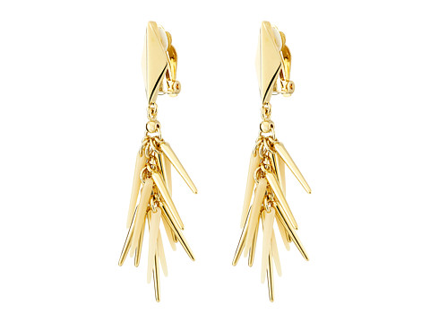 Vince Camuto - Shakey Spike Clip Earrings (Gold/Natural) Earring