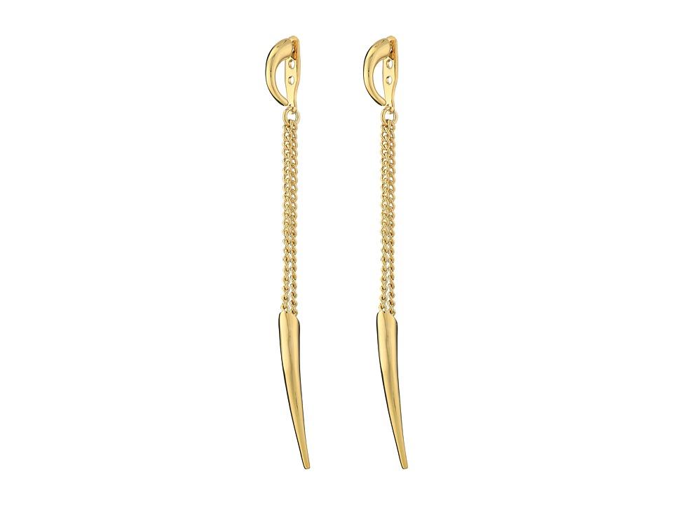 Vince Camuto - Horn Ear Jacket Earrings (Gold) Earring