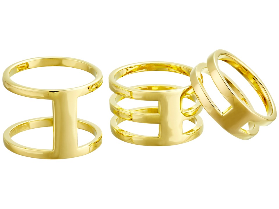 Vince Camuto - Four Piece Open Bar Ring Set (Gold) Ring