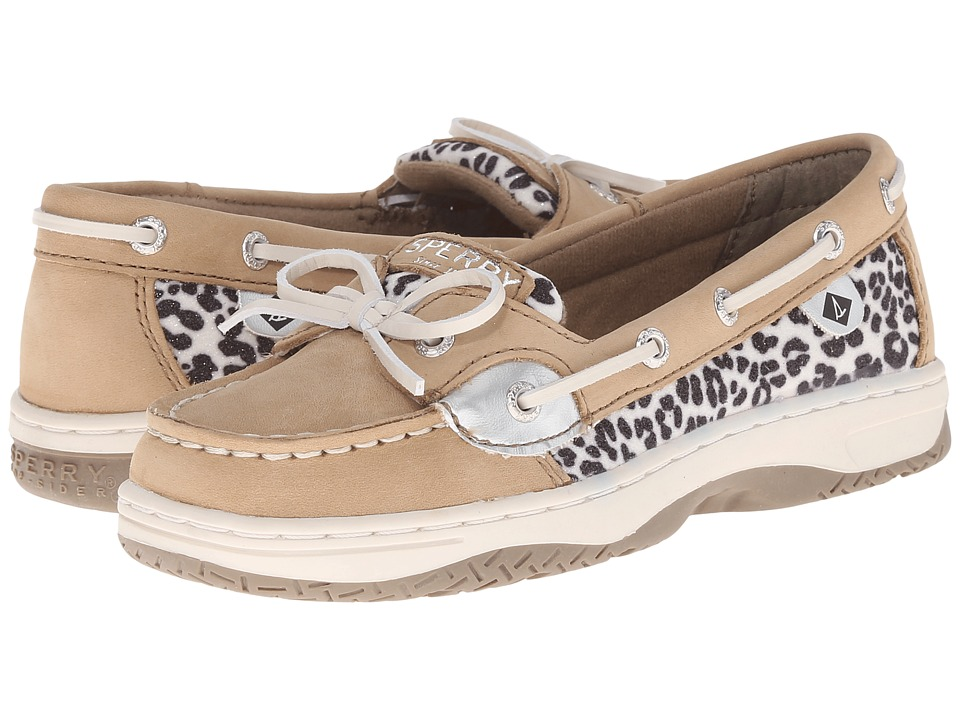 Sperry Top-Sider Kids - Angelfish (Little Kid/Big Kid) (Linen/Snow Leopard) Girls Shoes