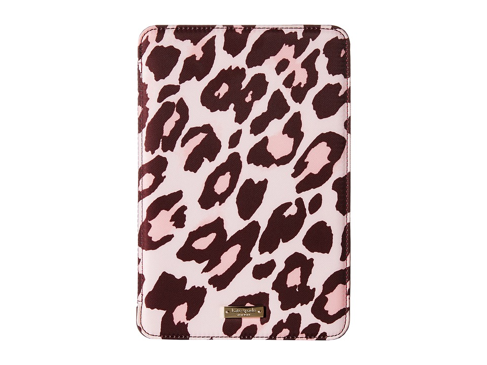 Kate Spade New York - Cheetah iPad Mini 2/3 Trifold Case (Pastry Pink) Wallet