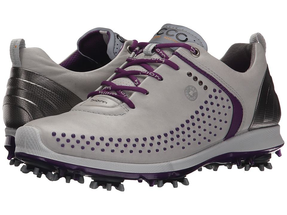 ECCO Golf - BIOM G 2 (Concrete/Imperial Purple) Women's Golf Shoes